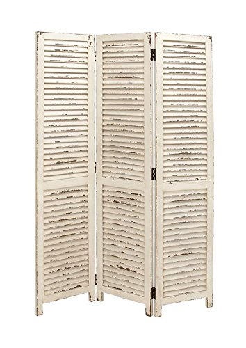- Deco 79 20444 Wood 3 Panel White Screen 48