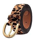 Women's Leopard Print Leather Belt