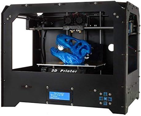 3D Printers, ZR Printing (Black) Personal Portable Dual Extruder Desktop  Rapid Prototyping 3D Models 3D Printer Kits 3D Printer Including 1x 1 75mm