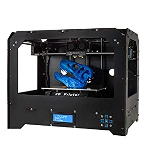 3D Printers, ZR Printing (Black) Personal Portable Dual Extruder Desktop Rapid Prototyping 3D Models 3D Printer Kits 3D Printer Including 1x 1.75mm ABS/PLA Filament
