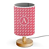 [ INITIAL LETTER A ] Monogram Name USB POWERED Wood Base Desk Table Bedside Lamp [ Man Woman Sign ]