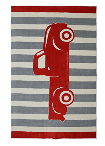 Mohawk Home Aurora Truck Printed Rug, 5'x8', Crimson - Family Room Ideas - Make quick & easy changes to any room in your home in minutes by changing the rug - add color & patterns