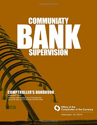 Read Online Community Bank Supervision Comptroller's Handbook pdf