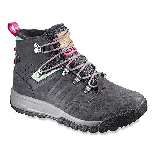 Salomon Utility TS CSWP Women Asfalto/Lichen Green/Hot Pink