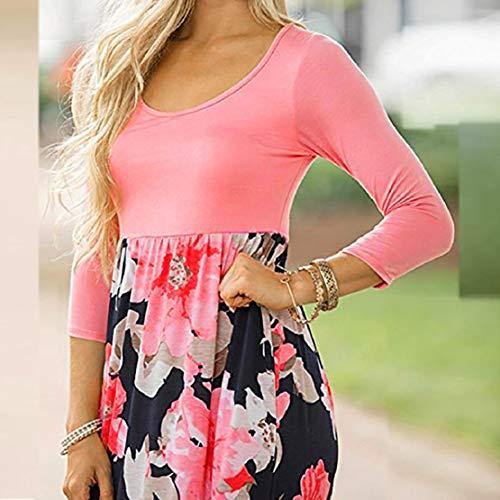 Women Long Gown Summer Beach Sleeveless Sundress Boho Floral Print Dress Maxi Dress by Lowprofile by Lowprofile Dress (Image #1)