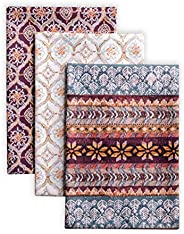 Maison d' Hermine Fair Isle 100% Cotton Set of 3 Multi-Purpose Kitchen Towel Soft Absorbent Dish Towels |