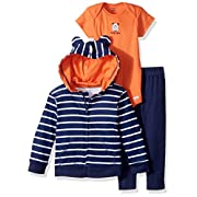 Gerber Baby Boy 3 Piece Hooded Jacket, Bodysuit and Pant Set, Tough Guy, 6-9 Months