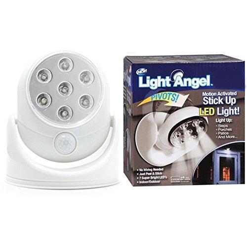 ライトエンジェルLED Motion ActivatedセンサーStick Up Night Lightコードレス B010F0DE3Y