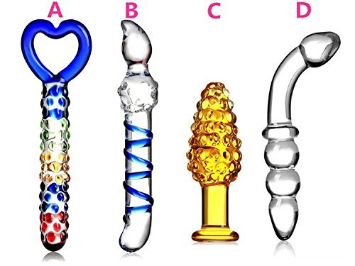 lover LIBO(US) Free Shipping Four Types Set Crystal Glass Dildo/Anal Plug Adult Toys Sex Toys for Women/man
