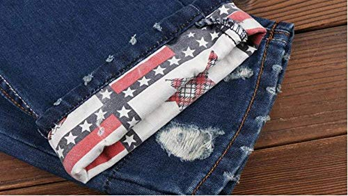 Marca Original Alla Especial Jeans Di Semplicità Slim Sfilacciata Flanging Ssig In Uomo Holes Straight Da Blau Cher Classic Estilo Moda Tide Denim Pants Cowboy Cotone wTxXqZz1