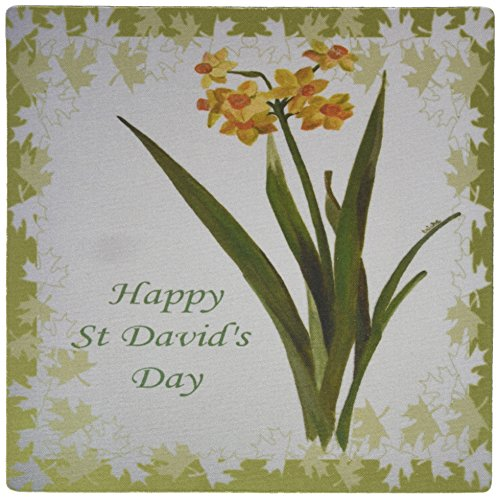 (3dRose LLC 8 x 8 x 0.25 Inches Happy St David's Day Daffodil Flowers, Jonquils, Narcissi Pattern Mouse Pad (mp_47058_1))