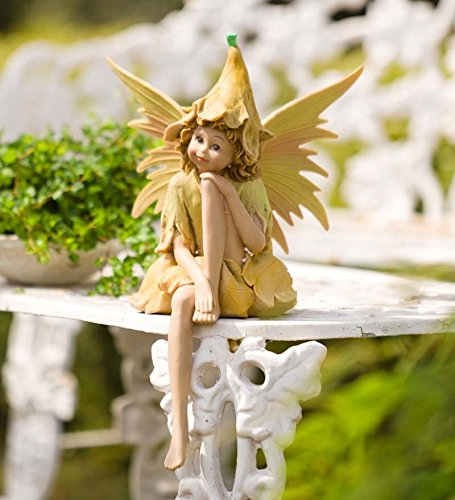 Wind & Weather SC8347 Nature Pixie Fairy Outdoor Garden Statue