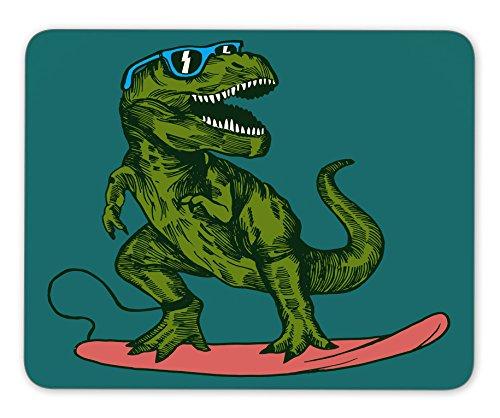 happy dinosaur surfer wearing sunglasses drawing Mouse pad gaming mouse pad mice pad mouse pad the office mat Mousepad Nonslip Rubber - Sunglasses Drawing