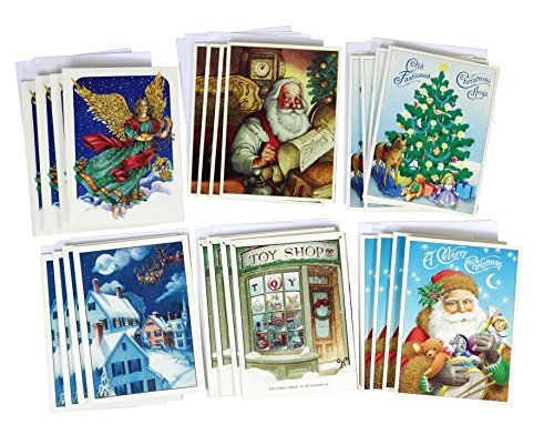 Avalon Pop Up Christmas Cards With Envelops - 6 Styles - 24 - Avalon Shop Card