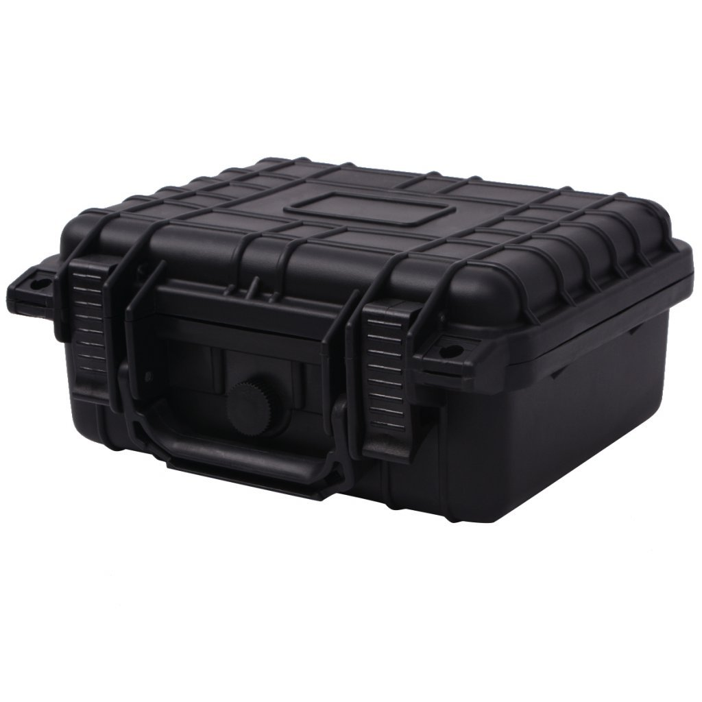 Festnight Black Hard Tool Box Cases 35 x 29.5 x 15 cm