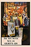 "Gilbey's Gin Casablanca Arab World Martini Tonic Drink Vintage Poster Repro 20"" X 30"" Image Size. We Have Other Sizes Available!"