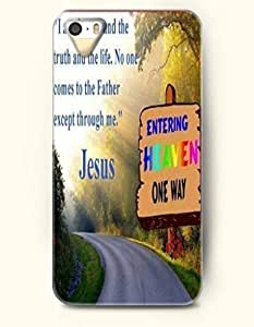 For Iphone 5/5S Phone Case Cover Hard with Design I Am The Way And The Truth And The Life. No One Comes To The Father Except Through Me. Jesus- Bible Verses - For Iphone 5/5S Phone Case Cover