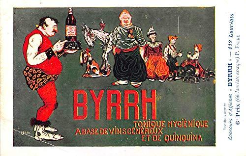 Advertising Byrrh Postcard Tonique Hygienique A Base De Vins Genereux de Quinquina Old Vintage Antique Post Card P. Falke Unused