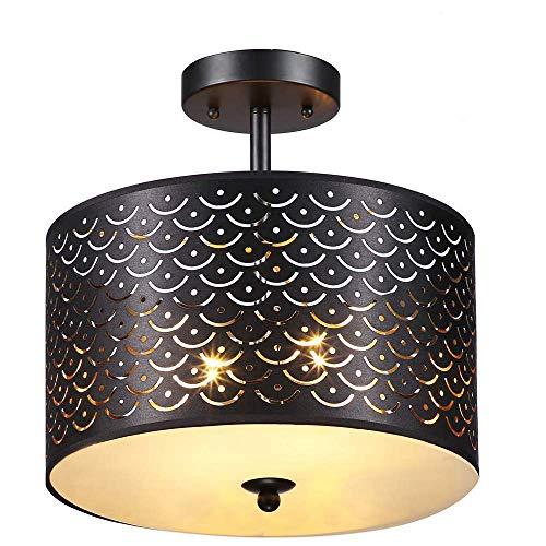 COTULIN 2 Light Modern Style Ceiling Light Ceiling lamp Design for Passageway Bedroom Dining Room Living Room,Metalt Fixture Rubbled Fnish Flush Mount Oil Ceiling Light