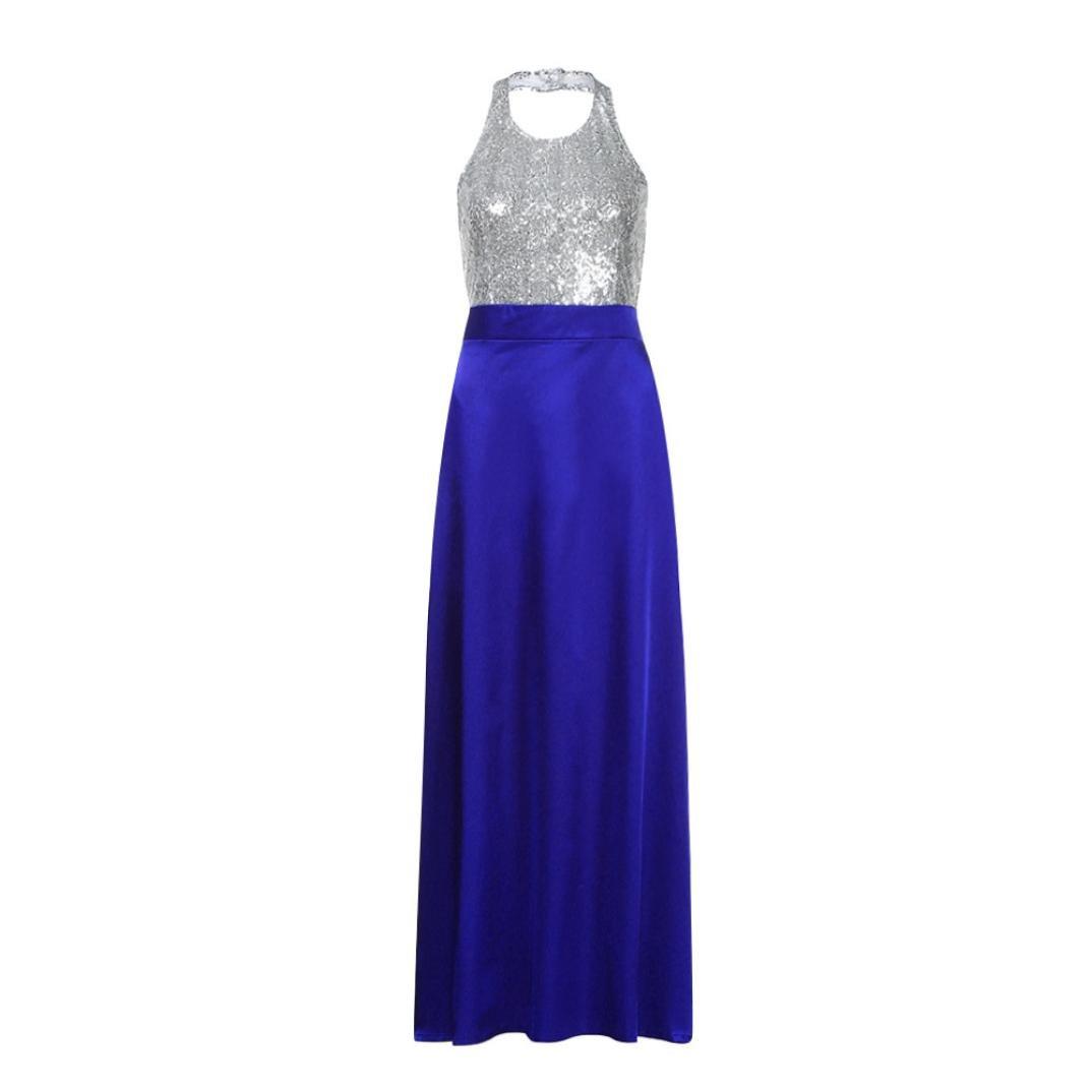 Amazon.com: Hemlock Formal Prom Party Dress Long Sleeveless Halter ...