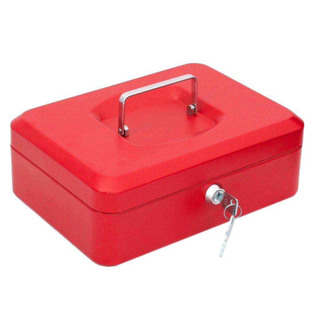 Arregui 1832D41 Caja de Caudales con Bandeja Rojo 200 x 90 x 160 mm