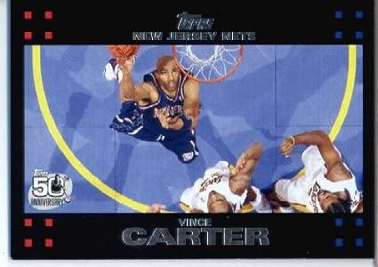 2007 08 Topps Chrome Basketball Card  28 Vince Carter New Jersey Nets 4e36a5cd1