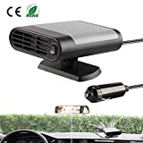 SONYANG Portable Car Heater Defroster 12V Car Heater Cooling Fan Window Demister Fast Heating Quickly Defrosts Defogger Windscreen De-Icer (Gray)