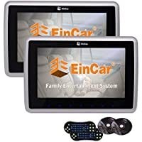 Twin Screens Universal Car Headrest Monitors Support CD DVD Players HD 10.1 Inch Wide View LCD Screen Support FM IR Wireless Headphones With Game Disc Remote Control
