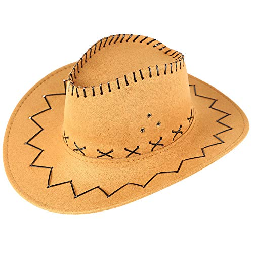 NEARTIME Unisex Sunshade Cap, Summer Outdoor Travel Western Cowboy Hat Casual Solid Mongolian Hat Grassland Visor