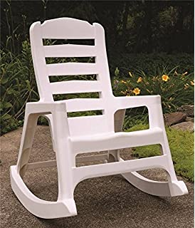 Big Easy 8080 48 3700 Rocking Chairs, Resin   Stackable, White
