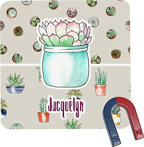 Cactus Square Fridge Magnet - Magnet Personalized Cactus