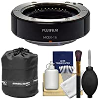 Fujifilm MCEX-16 Macro Extension Tube with Lens Pouch + Cleaning Kit for X-A2, X-E1, X-E2, X-M1, X-T1, X-T10, X-Pro1 Camera