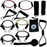 13 Piece Resistance Bands Workout Set w/ Starter Workout Video, Ideal for All Heights. Bonus 8-type and 0-type band for a home training, p90x, Yoga, Pilates or Cross Fit For Sale