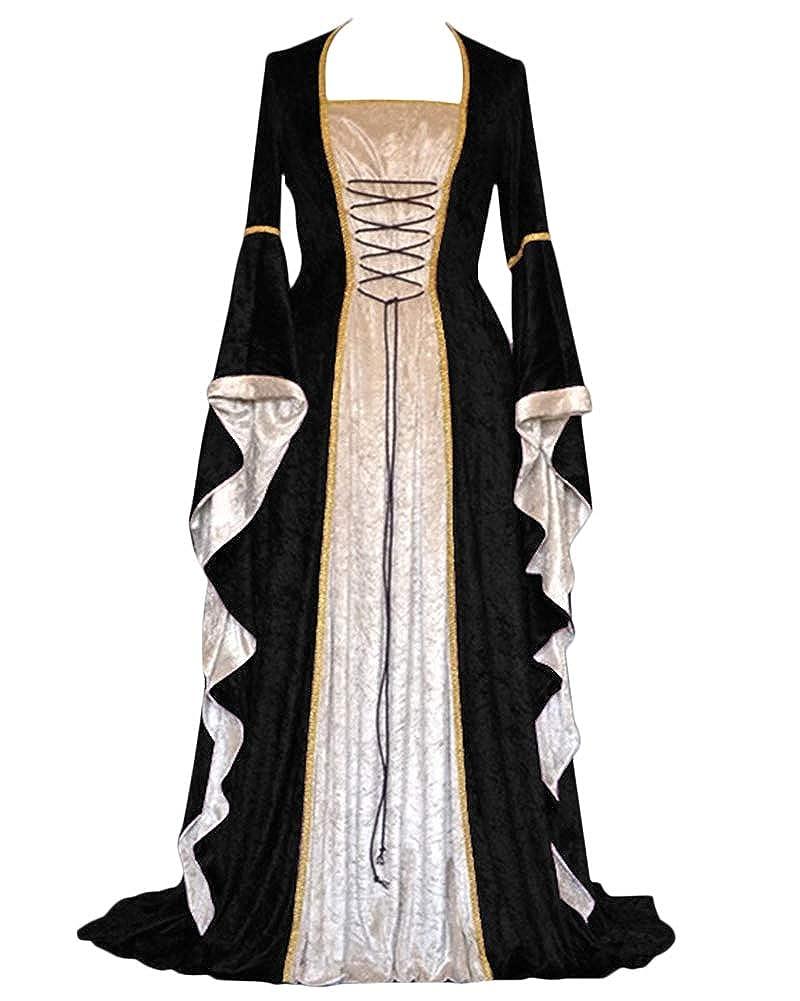 Vestido De Traje Cuello Cuadrado Medieval Renacentista para Mujer ...