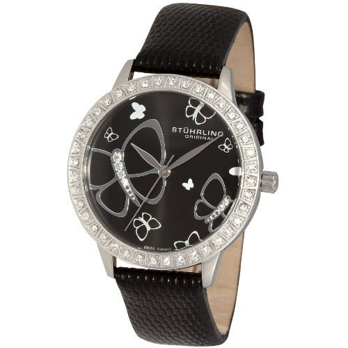 Stuhrling Original Women's 299.12151 Fantasia Swiss Quartz Swarovski Black Watch