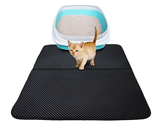 (Vivi Bear Cat Litter Mat Trapper Folding Waterproof Honeycomb Sifting Pad Protect Floor and Carpet Eco-friendly Light Weight EVA Foam. (5570cm))