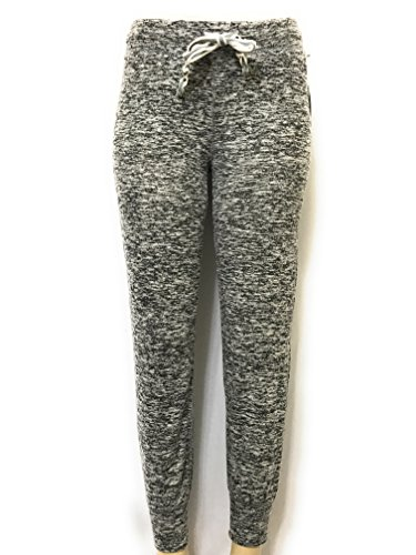 Aeropostale Women's Lld Fleece Jogger Sweatpants (Large, Grey/M Heather)