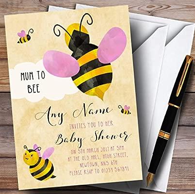 Abeja con las niñas nube invitaciones Baby Shower ...