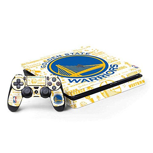 Skinit Golden State Warriors Historic Blast PS4 Slim Bundle Skin - NBA Gaming Decal - Ultra Thin, Lightweight Vinyl Decal Protection