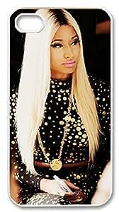 iphone4,4s custom case,iphone4,4s,Nicki Minaj case,Female rapper Cover Case for iphone4,4s.