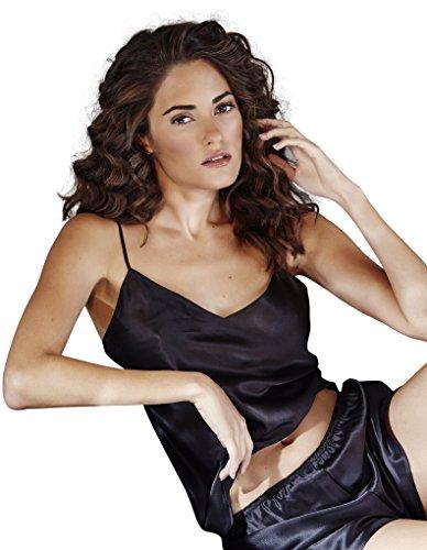Eva B. Bitzer Silk Classic Black Spaghetti Strap Top 27318213 20 aa182e82f