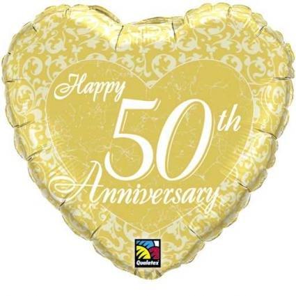 Pallone Buon Anniversario 50 Anni Amazonit Casa E Cucina