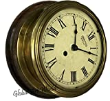 Antiques World Antiquated Beautiful Time Piece Wind Up Smith Enfield Roman Numerals Brass Home Ship Wall Décor Ship Clocks/Clock AWUSAHB 0226