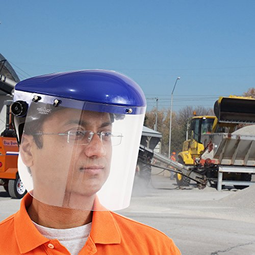 Safety Headgear with Clear Polycarbonate Face Shield by BISON LIFE (Image #2)