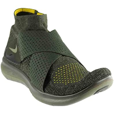 new arrival fb914 a1f92 Nike Men s Free RN Motion Flyknit 2 Running Shoes (Sequoia Green, 9 D(