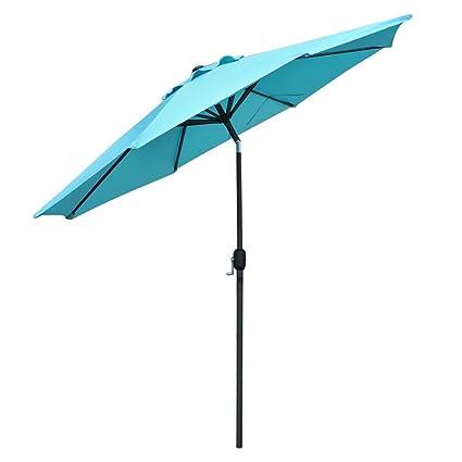 Snail 10 Ft Outdoor Large Aluminum Outdoor Umbrella Garden Table Umbrellas  Sunshade With Push Button Tilt