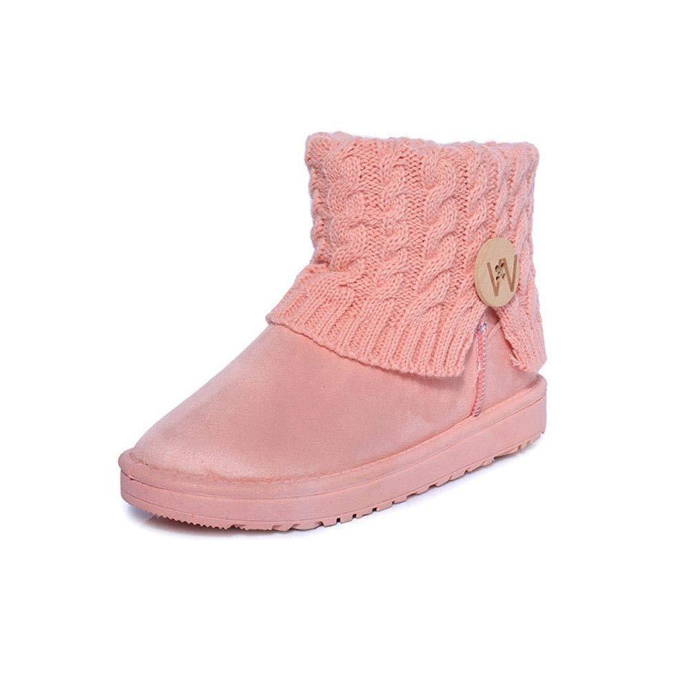 DTHJK Frauen Frauen Frauen Stiefel Winter Warme Schneeschuhe Mittlere   Stiefel Frauen Damen Mädchen   Plüsch Frauen Schuhe  5ede19