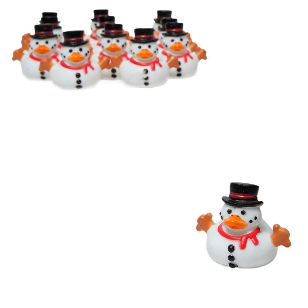 Snowman Rubber Ducky Duckies Ducks 12 ct Novelty Toys 3L-13613051
