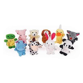 YICOTA Plush Animal Finger Puppets Toys for Children, or Baby Kids Girls