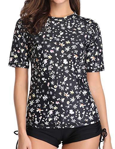 - Caracilia Women's Short Sleeve Rash Guard Swim Shirt UPF 50+ Rashguard Swimsuit F37-4XL CA111